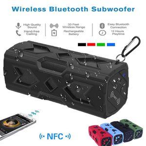 Lautsprecher Bluetooth 4.0 Stereo Sound drahtlose wasserdichte Lautsprecher Unterstützung NFC im Freien wasserdichte Bluetooth Lautsprecher
