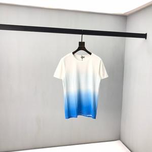 أوائل الربيع 2020 الجديد إلكتروني كتلة شعار اللون قصير كم المحملة نسيج القطن مزدوجة حبلا غرامة الأسود واLouis Vuitton T shirt لأبيض xshfbcl cl8