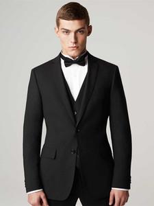 custom made suit men suits 3 piece suit 2020 groom tuxedo black formal wear high quality