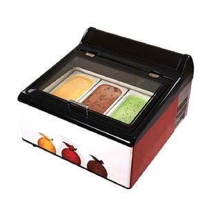 Qihang_top Table Promotion top gelato à la crème glacée vitrine petit congélateur armoire de glaces italiennes vitrines crème glacée aux fruits