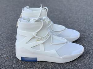 Navire avec la boîte peur de Dieu 1 Voile Noir Athletic Chaussures Designer Incroyable Blanc FOG1 Mode Zapatos Chaussures de sport meilleure qualité