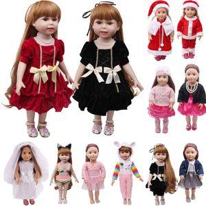 Decoração Artesanato da roupa da boneca Boneca Macacões Vestido Fit For 18 Inch-nascido do bebê boneca Acessórios Figurines