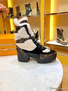 Última arranque de algodón para mujer de las maravillas Ranger, zapatos de plataforma del desierto del invierno cargadores de Martin en piel de becerro de gamuza aterciopelada Con Tamaño de la caja 35-42