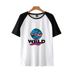 Juice wrld Mens progettista magliette di modo Digital Print manica corta con pannelli Mens Tees abbigliamento casual Maschi
