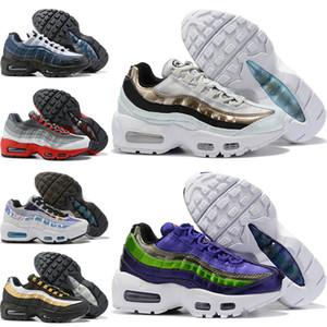 Nike air max 95 2018 Детские кроссовки Triple Black Детские кроссовки Rainbow Детская спортивная обувь для девочек и мальчиков Высококачественные теннисные кроссовки