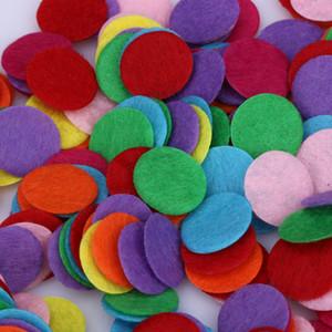 1000 PCS DIY 1.5 cm Rodada Almofadas de tecido de feltro acessórios patches círculo almofadas de feltro tecido acessórios de flores