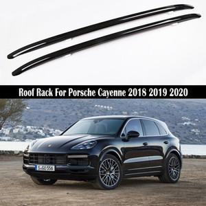 Barres de toit pour Porsche Cayenne 2018 2019 2020 Porte-bagages Rails porte-bagages Bar Bars haut Racks rail boîtes en alliage d'aluminium