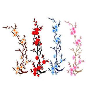 Hot Blossom Flower Applique Abbigliamento Ricamo Patch Adesivo in tessuto Ferro su Sew on Craft Riparazione cucito ricamato