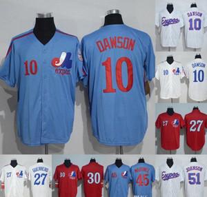몬트리올 엑스포스 저지 10 Andre Dawson 14 Pete Rose 27 Vladimir Guerrero 30 Tim Raines 45 Pedro Martinez 51 Randy Johnson Baseball Jerseys