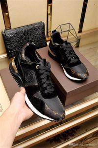 ¡PARTE SUPERIOR! Lujo diseñadores de moda zapatos casuales zapatos de ocio Rockrunner Hombres Mujeres zapatillas de la red de cuero del remiendo de pisos barata de las muchachas mejor tenis