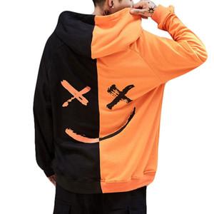 2020 la vendita calda unisex Uomini Donne teen volto sorridente di moda Stampa Felpa con cappuccio del rivestimento Pullover altezza Plus Size