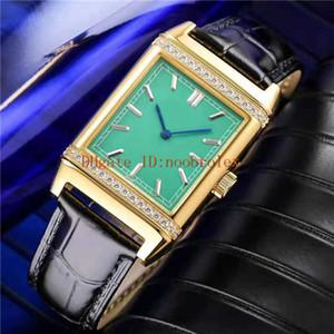 Классический Reverso Q2788520 Часы швейцарские автоподзаводом 21600 полуколебаний 18K золота Алмазный диск сапфировое Италия кожаный ремешок
