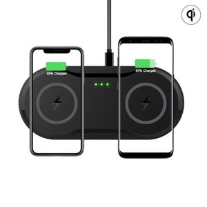 2 In 1 10W Dual Seat Qi Wireless Charger for Samsung S10 S9 S8 Fast Charging Dock Station Pad Usb C for IPhone 11 Pro XS Max XR