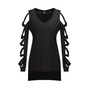Dividir la blusa del algodón camisa de la manera verano de las mujeres Off Shouder blusa blanca Mujer ahueca hacia fuera la manga Blusas