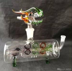 El color del grifo tubo horizontal, vidrio pipas de fumar de colores las mini multi-colores de mano Tubos Tubos de vidrio Mejor Cuchara