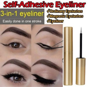 1pc auto-adhésif eyeliner waterproof naturel Lasting Make Up Eyeliner Pen Noir Eye-liner Crayon Yeux Crayon Marqueur Maquillage Pen