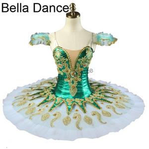 Verde Quijote Hada de las mujeres profesionales de ballet Tutus trajes de las muchachas Raymonda Nutracker Pancake Tutú verde BT9134H