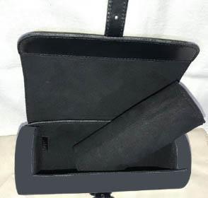 Black Flower MO. ECLIP. M43385 / Schwarz Plaid DA.GRAP. N41137 3 UHR-KASTEN oder Baumwolltasche, Kunden Designiertes Produkt