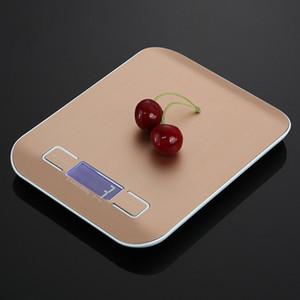 Multi-funzione Digital alimentari Bilancia da cucina, in acciaio inossidabile, 11lb 5kg acciaio inox piattaforma con display LCD