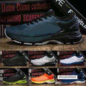 2019 Gel Kayano 25 Dark Green Mens Running Shoes Triple Black Orange White Sports Outdoor Basketball Shoes Women Sneakers 40-45
