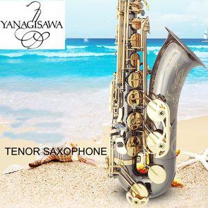 Black Nickel Oro Nuovo Tenor Saxophone Yanagisawa T-992 Strumenti musicali Bb tono tubo Gold Key Sax con il caso Bocchino