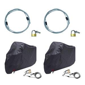 2x premium Motocycle Cabo E Cover Lock - Heavy Duty Cabling e cadeado 70 centímetros
