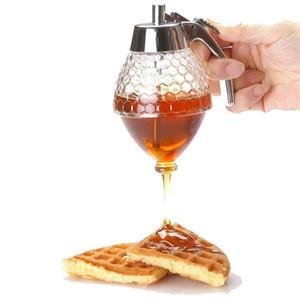 Squeeze bottiglia Miele vaso contenitore Bee Drip Dispenser bollitore bagagli Pot Holder stand succo di sciroppo Cup Accessori cucina