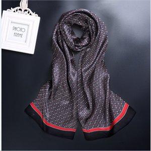 새로운 빈티지 실크 남성 Cravat 스카프 패션 paisley 체크 꽃 2 레이어 도트 순수 실크 새틴 Neckerchifs75 색상#4055