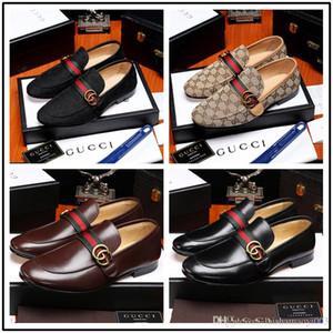 Iduzi Nouveau Mode luxe italien oxfords hommes chaussures de bureau chaussures en cuir véritable chaussures de designer noir brun taille: 38-45