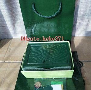 Topselling Зеленый Оригинальной Коробке Документы Карты Сумки Портмоне Коробки Для Oyster-Устрица Вечный Календарь Море-Жительница 116660 116610 126710 126660 116520 Часы