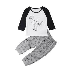 Nouveau-né bébé vêtements à manches longues Hauts Dinosaur T-shirt Sarouel Taille tenue 0-3T