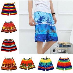 2XL-4XL de los hombres shorts de playa palma de coco impresión de los pantalones cortos de Hawaii de arena cortos con cordón para hombre del traje de baño Tiempo libre Playa usar ropa 17Color