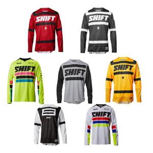 personalizado DESLOCAMENTO downhill mountain biker verão shirt dos homens off-road T-shirt de manga comprida roupa da motocicleta