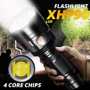 Ciclismo Best Selling LED potente XHP90 torcia impermeabile ricaricabile lampada Ultra Brigh luce della bicicletta #E