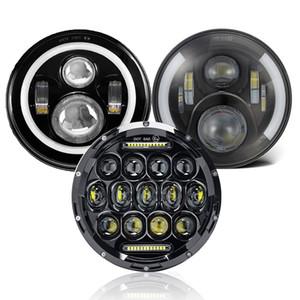 7 pouces avec LED High Low faisceau Halo Anneau DRL pour Jeep Wrangler Headlamp JK TJ Land Rover pour Harley Davidson Lada Niva 4x4