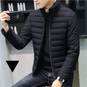 Winter Jacket Men 2020 Brand Casual Warm Coat Solid Red Jackets Thick Parka for Men Stripe Outwear Minimalist Clothing