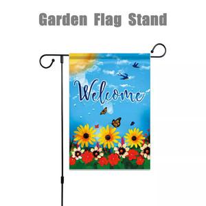 45 '' x 15 '' Flags Ferro Mini Jardim Pole Stand Holder Quintal Detalhes no display