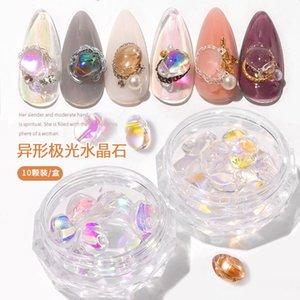 손톱 네일 스톤 보석에 대한 오로라 스톤 네일 크리스탈 스틱에 설정 장식 혼합 모조 다이아몬드