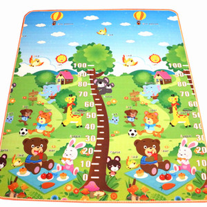 10 mm Thickness Double sides Cartoon Animal EVA Foam soft floor Carpet Rug Baby Crawling Mats 180*150CM Factory Price WHolesale