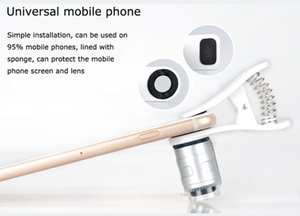 Lentes LED portátil 60X móvel Optical Zoom Lupa 60X Universal Mobile Phone Microscópio Macro Lens Micro Camera Clip para Celular