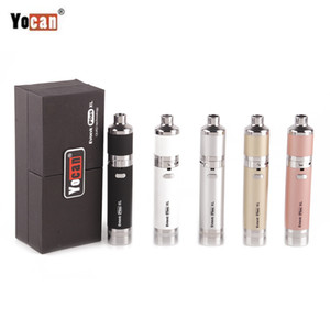 1PC Original-Yocan Evolve Plus-XL Dab Wax Starter Kit 1400mAh Adjustable Airflow XL Coil Kräuterkonzentrat Oil Dry Herb Vaporizer Vape Pen