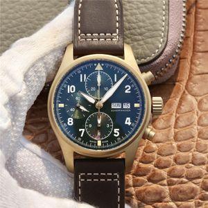 ZF 387902 montre DE caso luxe 41 milímetros momento função de bronze 7750 movimento mecânico automático relógios semana, relógios de grife de exibição calendário