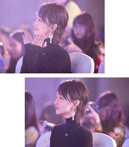Zhou Dongyus gleichen Ohrringe übertrieben Schlüssel Tang Yixin Stern Persönlichkeit Korean kreative Flut Temperament interessant Ohrgehänge
