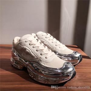 Мужские Sneaekers Крупногабаритные кроссовок, Silver жидкость дизайн кроссовок падение эффект Подошва Спорт Тренер Multicolor Размер 38-45