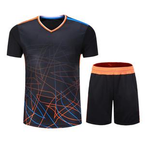 T-shirt de course à pied pour gymnastique pour hommes / femmes T-shirt de running Running Vêtements de sport Chemise respirante et à séchage rapide pour badminton + short