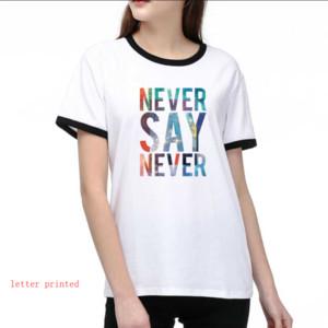 Марка женщин Дизайнер футболки Luxury Printed DIY Тис 2020 Новое лето L0g0 T рубашка 2 цвета Размер S-2XL T003A438