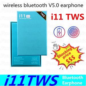 i11TWS Bluetooth V5.0 del auricular de los auriculares sin hilos Ventana emergente para auriculares estéreo de control táctil Auricular Auricular con el Mic para auriculares Auriculares
