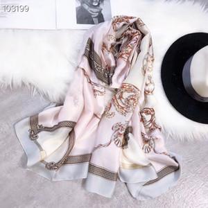 Ladies scarf fashion brand ladies imitation silk fabric flower design clothing accessories no box size 180*90cm