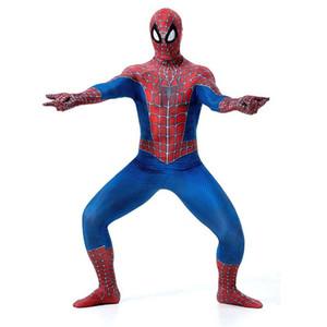 Halloween Super Hero Zentai Peter Parker Jumpsuit Unisex Carnival Superhero Uniform American Anime Movie Cosplay Spider Theme Costumes