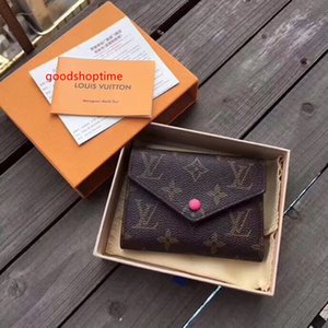 #67544 5A Hot Brand VICTORINE Women Wallet Emilie Button Short Wallets with Box Card Pouch Round Coin Purse M62360 M62472 M41938 N64022
